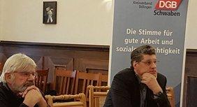 Siegi Ecker KAB und Ludwig Maier DGB Bayern