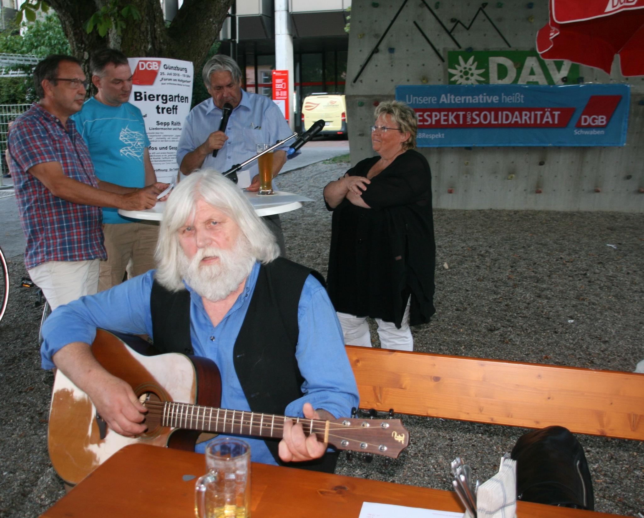 Günzburger DGB-Biergartentreff