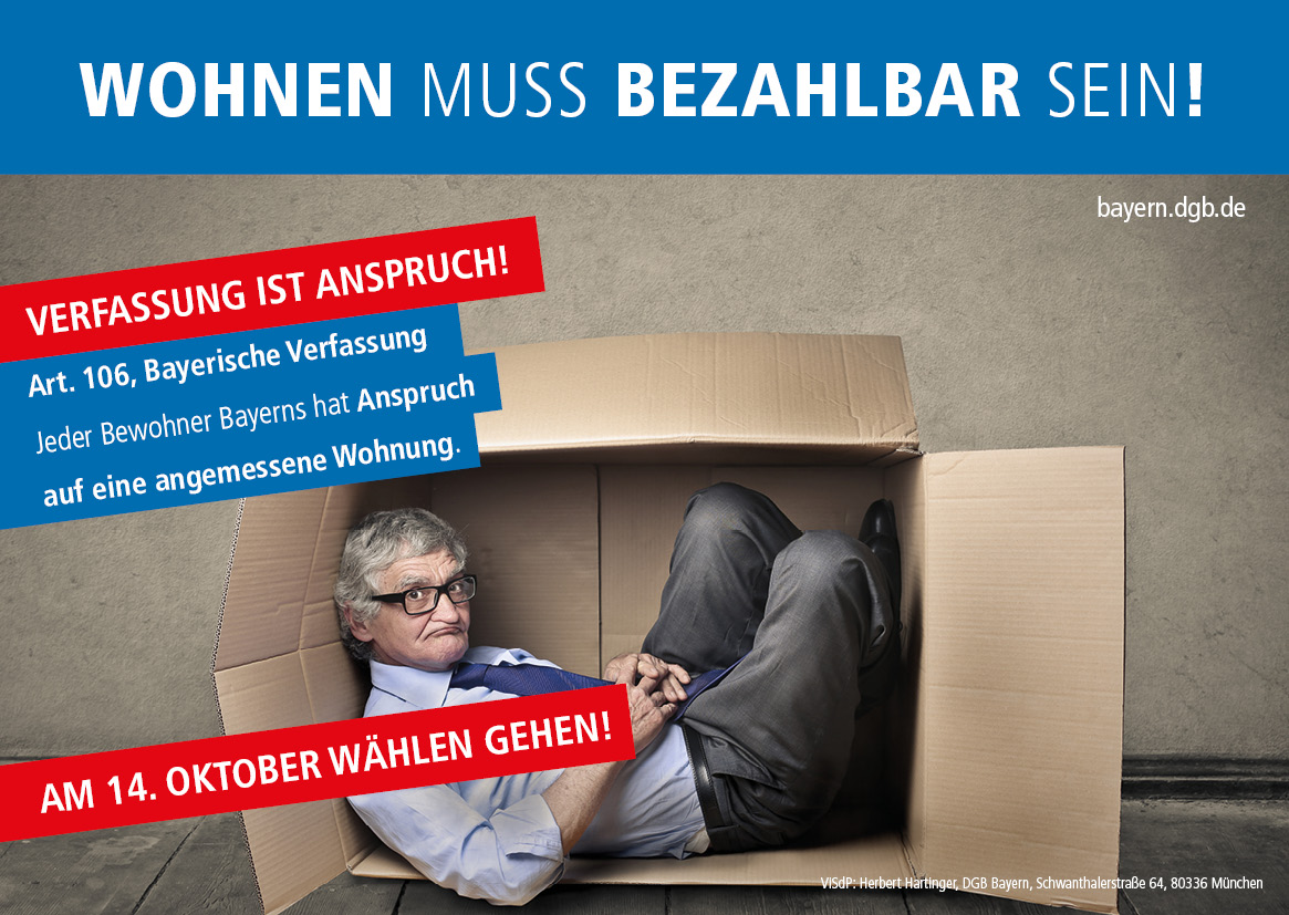 """""""Verfassung ist Anspruch!"""" - Wohnen muss bezahlbar sein!"""