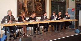 Peter Ziegler, Christine Sturm-Rudat, Annelie Buntenbach, Michael Kerler, Stefan Kiefer,Steffen Rupp, Fritz Grassmann