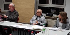 von rechts nach links: Silke, Wolfgang Veiglhuber, Hajo Hertle