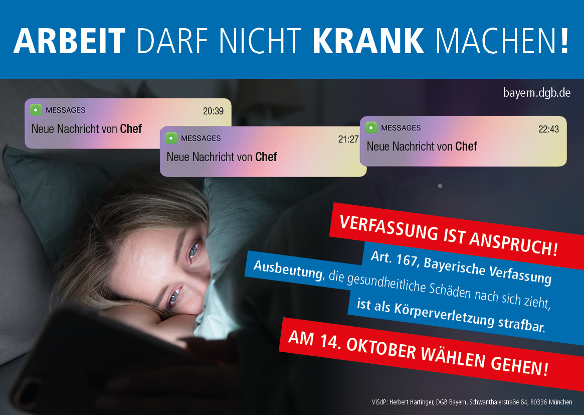 """""""Verfassung ist Anspruch!"""" - Arbeit darf nicht krank machen!"""