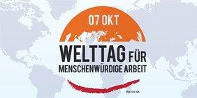 Logo Welttag für menschenwürdige Arbeit - World Day for Decent Work