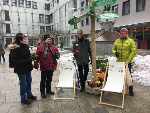 """Primeln zu Ehren des """"Internationalen Tags für den arbeitsfreien Sonntag"""""""