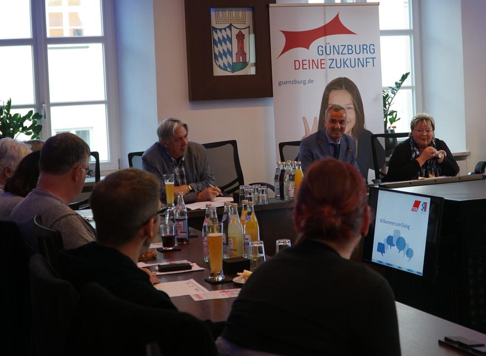 Meinungsaustausch mit OB Gerhard Jauernig